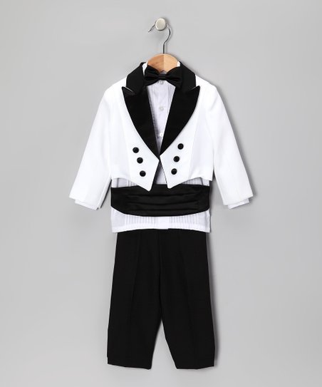 Black &amp; White Five-Piece Tuxedo Set -  Infant, Toddler &amp; Boys