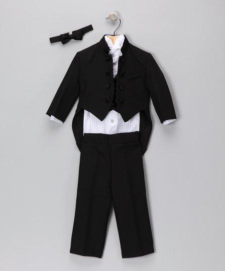Black Mandarin Five-Piece Set - Infant, Toddler & Boys