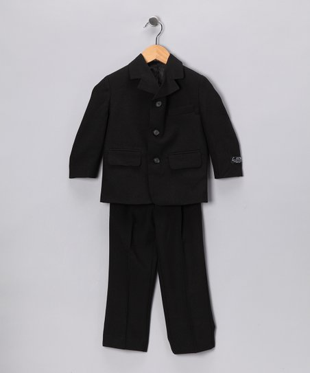 Black Two-Piece Suit Set - Toddler, Boys & Husky