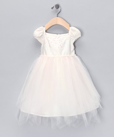 Ivory & Pink Princess Dress - Infant & Toddler