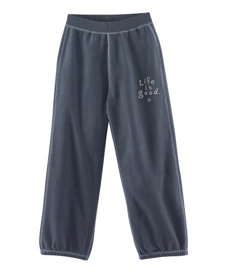 True Blue &#039;Life is Good&#039; Soft Wash Sweatpants - Toddler &amp; Boys