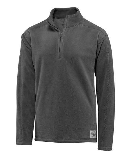 Dark Gray Microfleece Pullover - Men