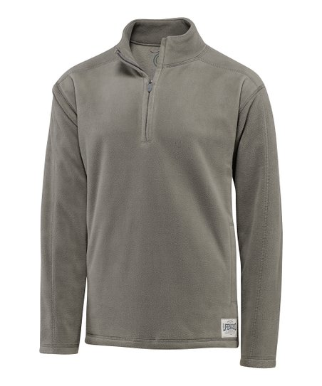 Warm Gray Microfleece Pullover - Men
