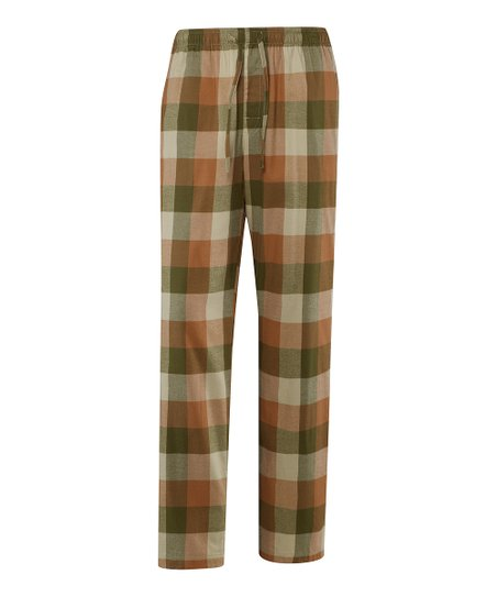 Copper Plaid Pajama Pants - Men