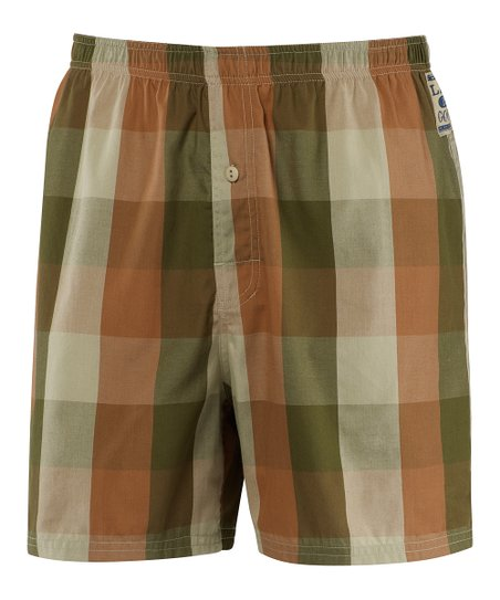 Copper Plaid Boxers - Men