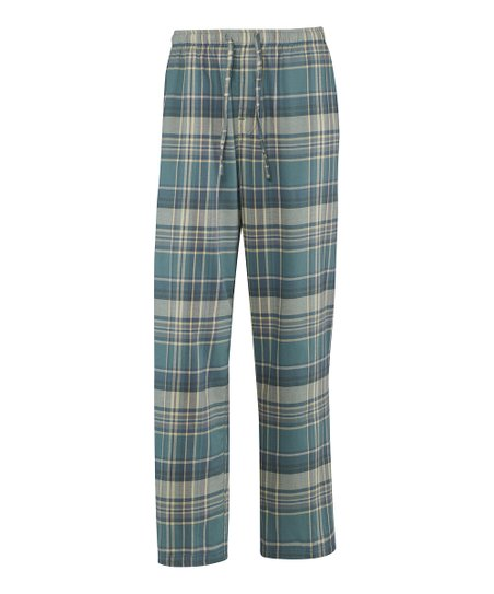 Spruce Green Plaid Pajama Pants - Men
