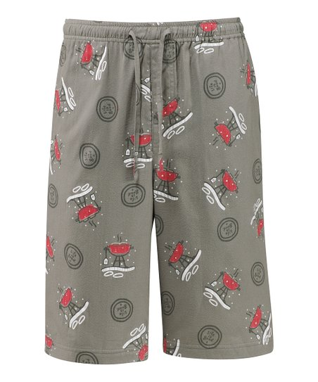 Warm Gray Winter Grill Pajama Shorts - Men