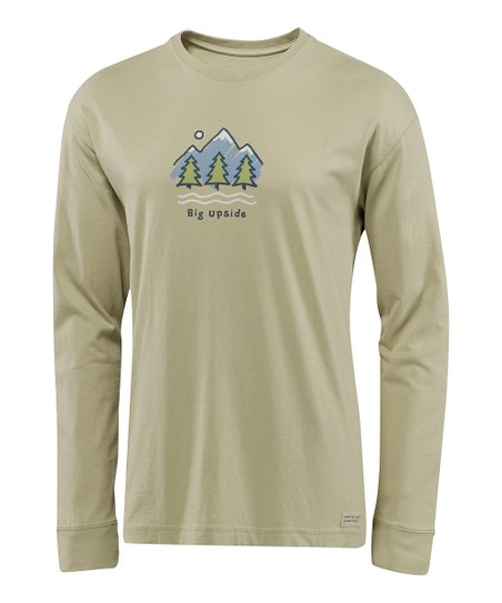 Light Green 'Big Upside' Crusher Long-Sleeve Tee - Men