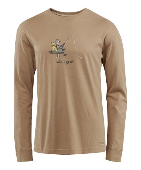 Simply Brown Dock of the Bay Crusher Long-Sleeve Tee - Men