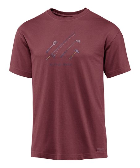 Burgundy 'Action Hero' Crusher Short-Sleeve Tee - Men