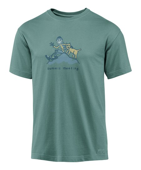 Pine Green 'Summit Meeting' Crusher Short-Sleeve Tee - Men