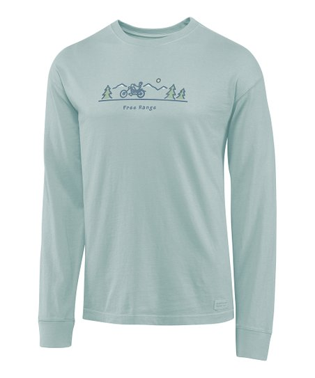 Fog Blue 'Free Range' Crusher Long-Sleeve Tee - Men