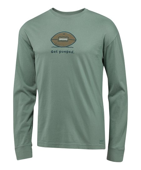 Pine Green 'Get Pumped' Crusher Long-Sleeve Tee - Men