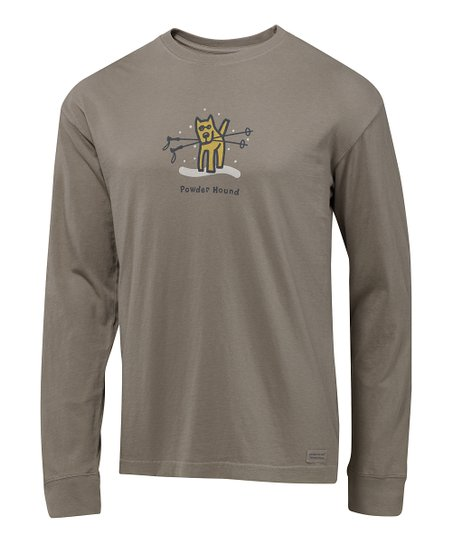 Warm Gray &#039;Powder Hound&#039; Crusher Long-Sleeve Tee - Men