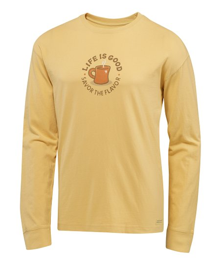 Classic Gold 'Savor the Flavor' Crusher Long-Sleeve Tee - Men