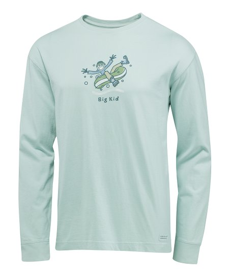 Fog Blue &#039;Big Kid&#039; Crusher Long-Sleeve Tee - Men