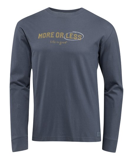 True Blue &#039;More or Less&#039; Crusher Long-Sleeve Tee - Men