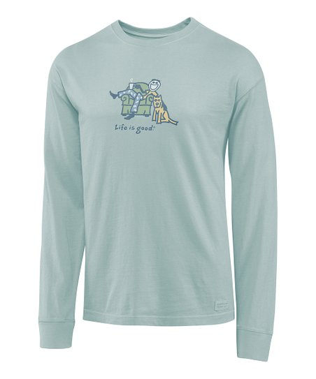 Foggy Blue Lounge Jake Crusher Long-Sleeve Tee - Men