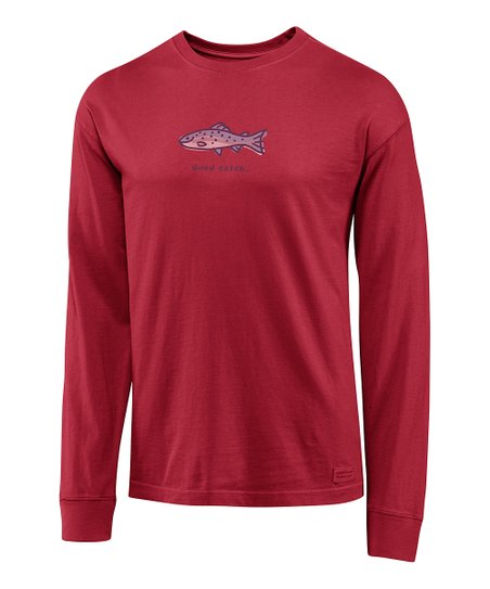 Simply Red 'Good Catch' Crusher Long-Sleeve Tee - Men
