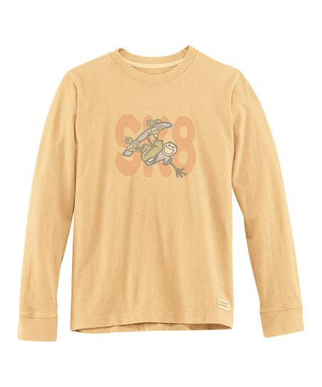Classic Gold &#039; Sk8&#039; Long-Sleeve Crusher Tee - Boys