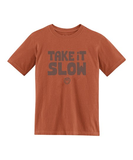 Copper 'Take It Slow' Creamy Tee - Toddler & Boys