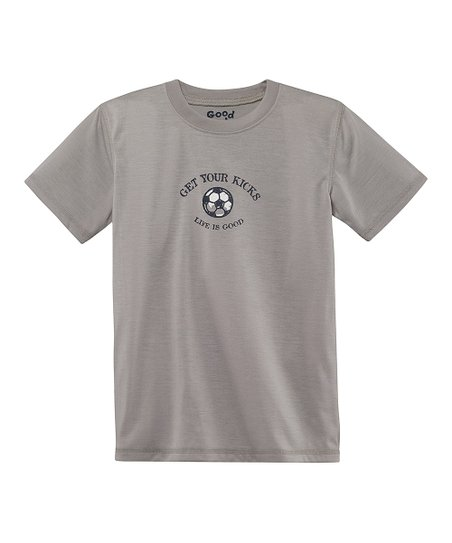 Warm Gray 'Get Your Kicks' Sleep Shirt - Toddler & Boys
