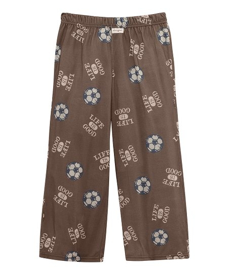 Light Brown Soccer Pajama Pants - Boys