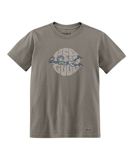 Warm Gray Touchdown Short-Sleeve Crusher Tee - Boys
