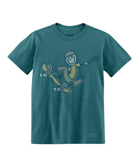 Spruce Green Skateboard Short-Sleeve Crusher Tee - Boys