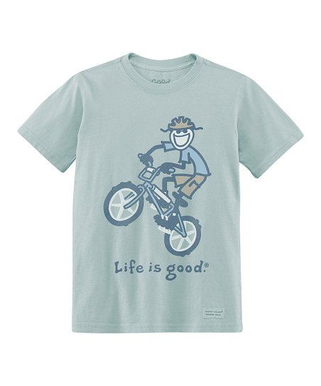 Foggy Blue BMX Bike Short-Sleeve Crusher Tee - Boys
