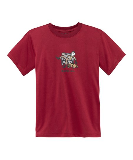 Red 'Game On' Tee - Boys