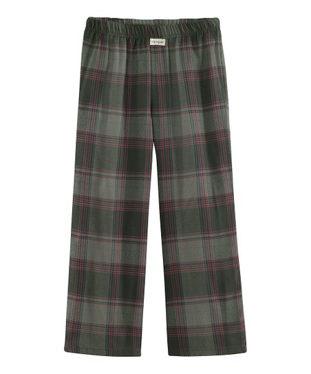 Dark Gray Plaid Pajama Pants - Boys