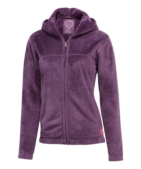 Plum Cozy Zip-Up Hoodie - Women