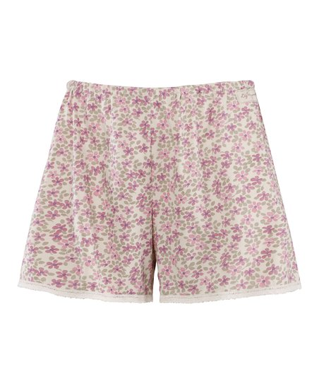 Pale Crme Floral Simplicity Boxers - Women