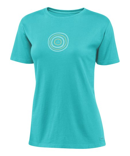 Teal Bull's-Eye Crusher Short-Sleeve Tee - Women