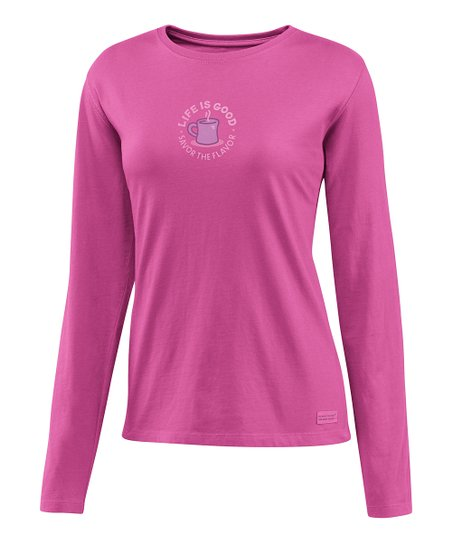 Magenta 'Savor the Flavor' Crusher Long-Sleeve Tee - Women