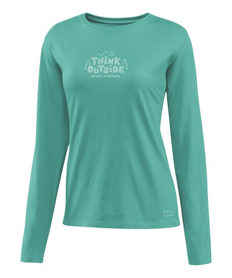 Teal &#039;Think Outside&#039; Crusher Long-Sleeve Tee - Women