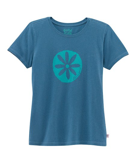 Blue Impression Flower Short-Sleeve Creamy Tee - Toddler &amp; Girls