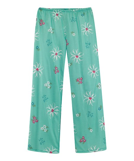 Teal Daisy Pajama Pants - Toddler &amp; Girls