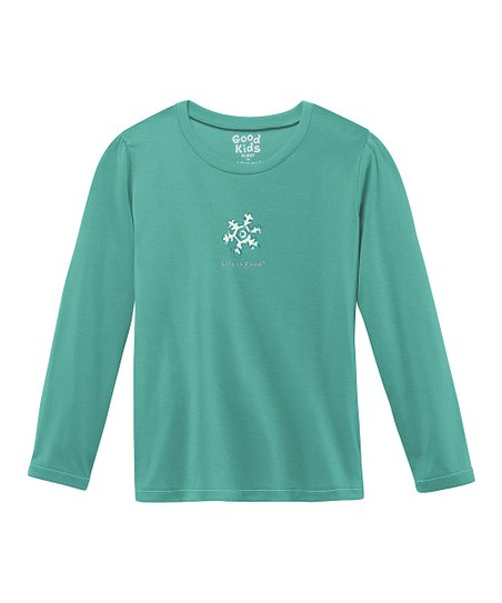 Teal Snowflake Sleep Shirt - Toddler & Girls
