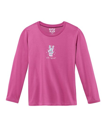 Magenta Peace Glove Sleep Shirt - Toddler & Girls