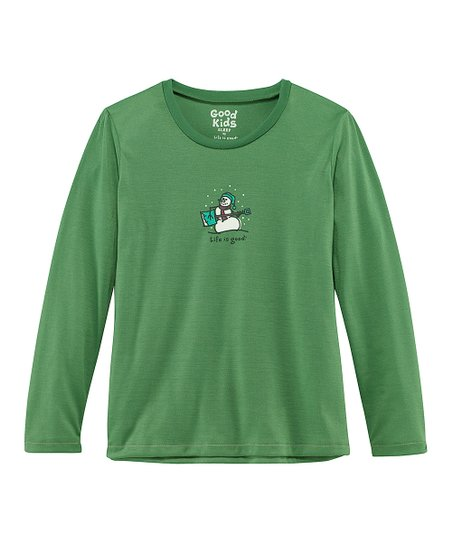 Green Jammin&#039; Snowman Sleep Shirt - Toddler &amp; Girls