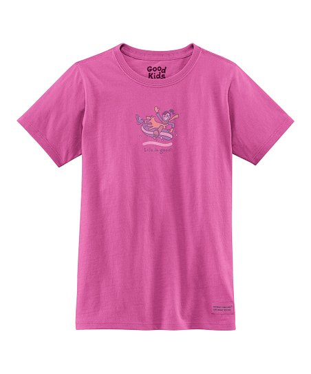 Magenta Snow Tube Short-Sleeve Crusher Tee - Girls