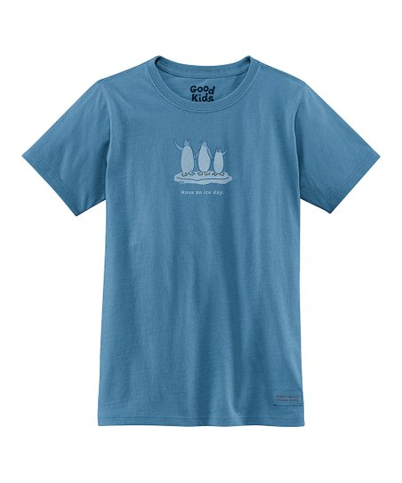 Simply Blue &#039;Have an Ice Day&#039; Short-Sleeve Crusher Tee - Girls