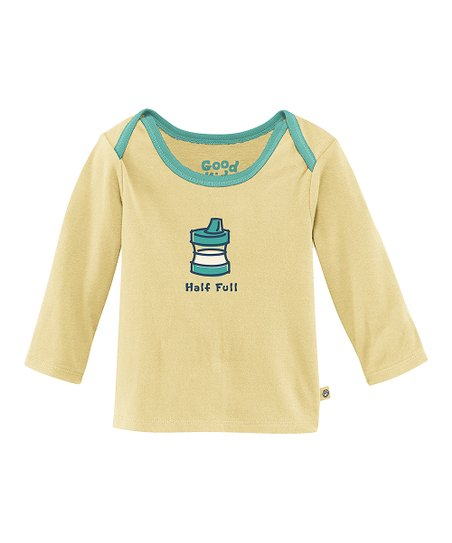 Yellow 'Half Full' Lap Neck Tee - Infant