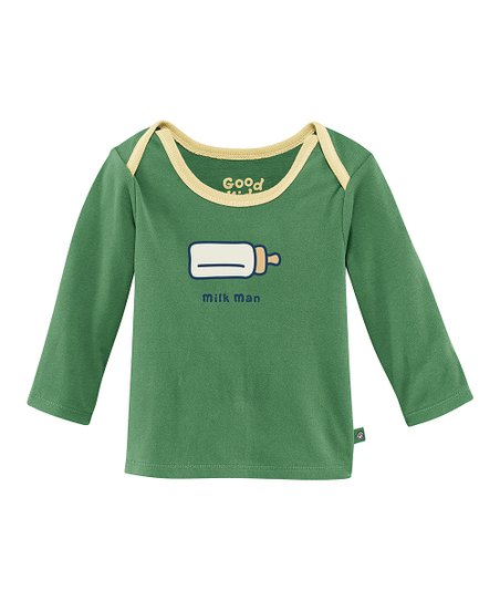 Simply Green 'Milk Man' Lap Neck Tee - Infant