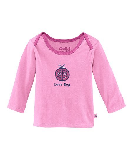 Peony Pink 'Love Bug' Lap Neck Tee - Infant