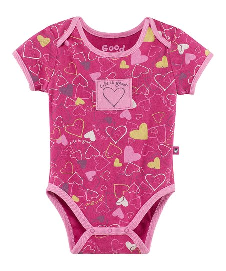 Magenta Jamboree Heart Bodysuit - Infant