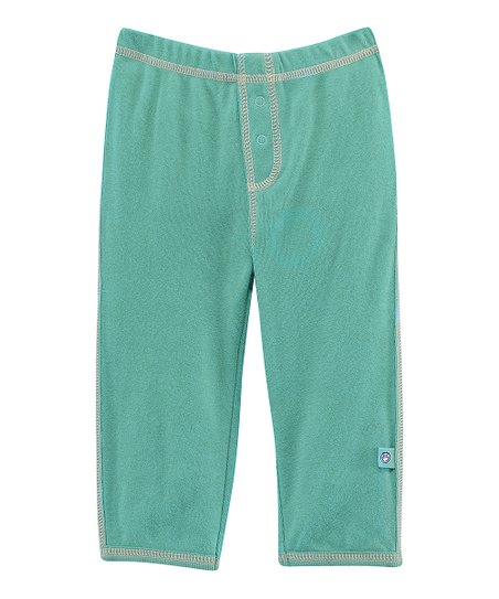 Teal Front-Snap Pants - Infant