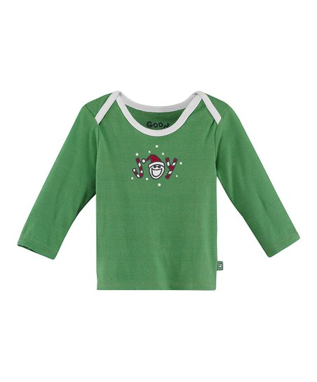 Green 'Joy' Lap Neck Tee - Infant
